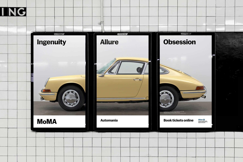Automania ooh triptych in situ